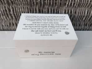 Personalised In Memory Of Box Loved One ~ BROTHER ~ any Name Bereavement Loss - 332626263076